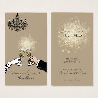 Cartão De Visitas Negócio Sparkling luxuoso glamoroso