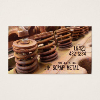 Cartão De Visitas Negócios antigos da sucata do motor de veículo