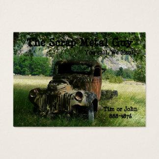Cartão De Visitas Negócios antigos da sucata do veículo