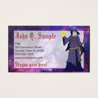 Cartão De Visitas Negócios loucos de Wiz, arte do feiticeiro do