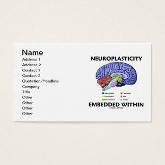 Cartão De Visitas Neuroplasticity encaixou dentro (a anatomia do