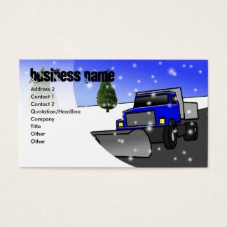 Cartão De Visitas neve-arado-azul, nome da empresa, endereço 2,