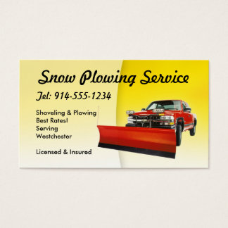 Cartão De Visitas Neve CUSTOMIZÁVEL que ara o amarelo