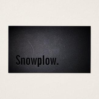 Cartão De Visitas Neve que ara minimalista preto profissional