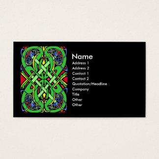 Cartão De Visitas Nó colorido do céltico do cobra