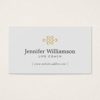 Cartão De Visitas Nó elegante da eternidade, cinza do nó Gold/Lt da
