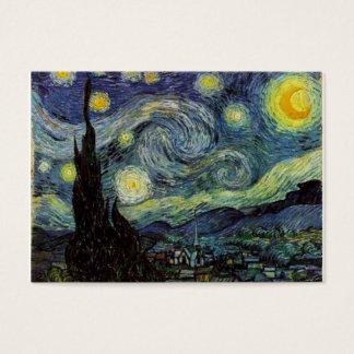 Cartão De Visitas Noite estrelado por Van Gogh