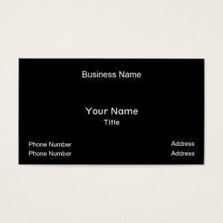 Cartão De Visitas Nome da empresa, seu nome, título, número de