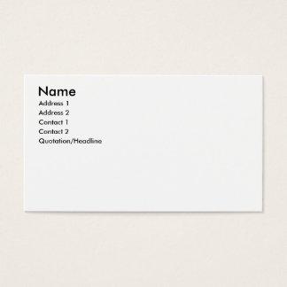 Cartão De Visitas Nome, endereço 1, endereço 2, contato 1, contato…