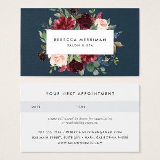 Cartão De Visitas Nomeação brilhante da flor