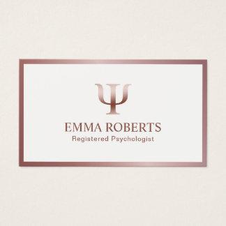 Cartão De Visitas Nomeação cor-de-rosa do quadro do ouro do