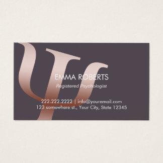 Cartão De Visitas Nomeação cor-de-rosa do símbolo do ouro do