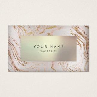 Cartão De Visitas Nomeação cor-de-rosa mínima 3D perolado VIP do