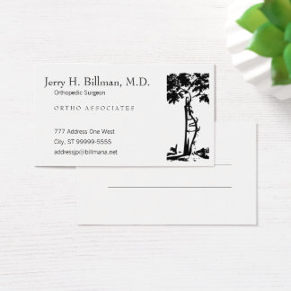 Cartão De Visitas Nomeação curvada ortopédica da árvore