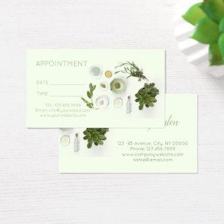 Cartão De Visitas nomeação da aromaterapia dos TERMAS da massagem do