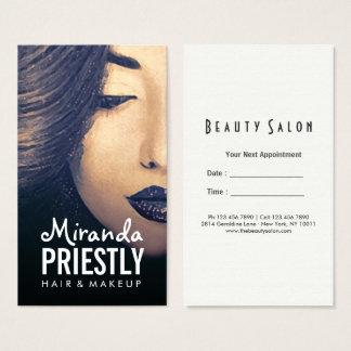 Cartão De Visitas Nomeação da mulher do salão de beleza do