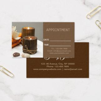 Cartão De Visitas Nomeação da terapia da massagem dos TERMAS da
