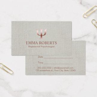 Cartão De Visitas Nomeação de linho elegante do conselheiro do