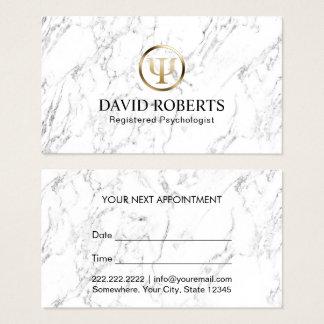 Cartão De Visitas Nomeação de mármore elegante do conselheiro do