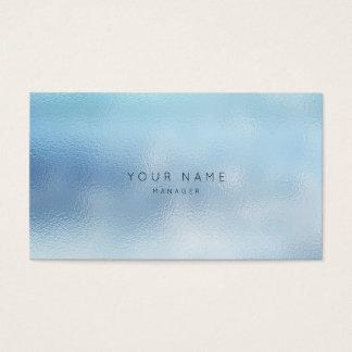Cartão De Visitas Nomeação de vidro azul cinzenta do Vip do céu de