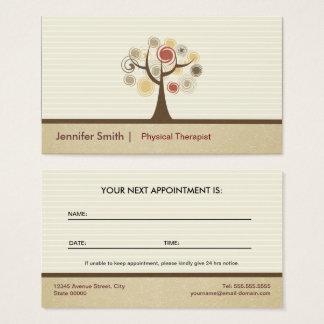 Cartão De Visitas Nomeação do fisioterapeuta - natural elegante