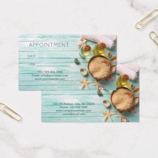 Cartão De Visitas Nomeação dos TERMAS da terapia da massagem da