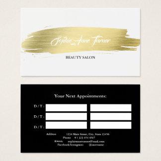 Cartão De Visitas Nomeação elegante do profissional do curso da