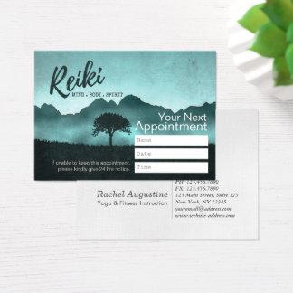 Cartão De Visitas Nomeação natural do mestre de Reiki & do instrutor