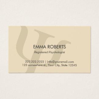 Cartão De Visitas Nomeação profissional lisa do psicólogo