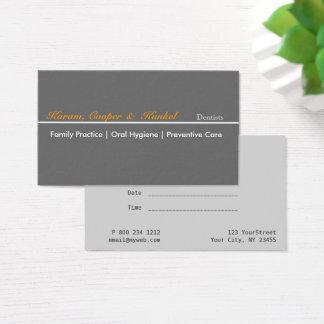 Cartão De Visitas Nomeação profissional minimalista do dentista