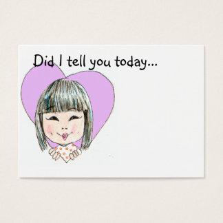 Cartão De Visitas Nota do amor da lancheira - personalizada