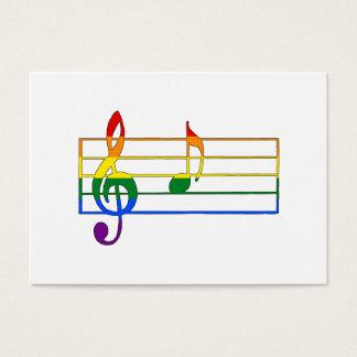 """Cartão De Visitas Nota musical do arco-íris """"A"""""""