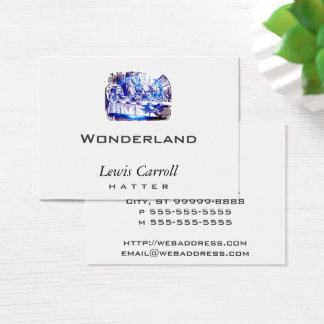 Cartão De Visitas Nova do azul de Alice