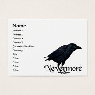 Cartão De Visitas nunca mais corvo 3D
