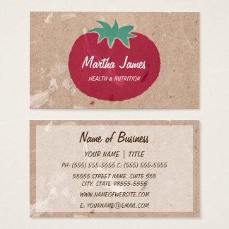 Cartão De Visitas Nutrição orgânica do tomate do papel do artesanato