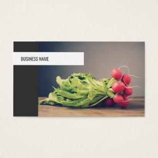 Cartão De Visitas Nutricionista pessoal vegetal original moderno do