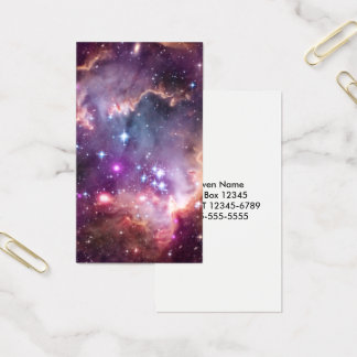 Cartão De Visitas Nuvem de Magellanic pequena roxa