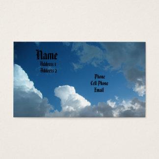 Cartão De Visitas Nuvens