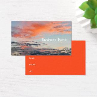 Cartão De Visitas Nuvens alaranjadas & céu nebuloso macio azul