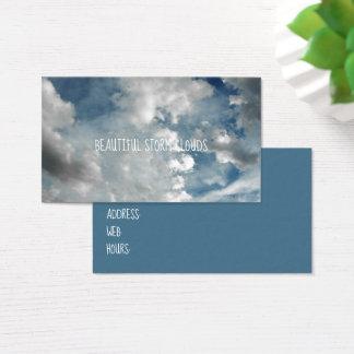 Cartão De Visitas Nuvens de tempestade macias bonitas nebulosas