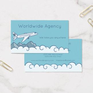 Cartão De Visitas Nuvens e montanhas do avião do jato com céu azul