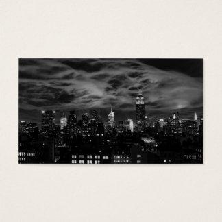 Cartão De Visitas Nuvens etéreos: Skyline de NYC, estado Bldg BW do