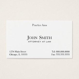 Cartão De Visitas O advogado, elegante limpa II