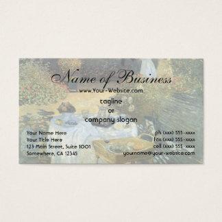 Cartão De Visitas O almoço por Claude Monet