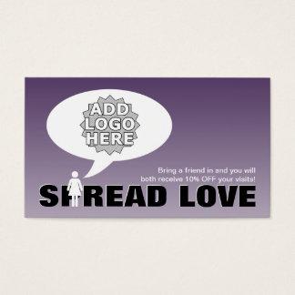 Cartão De Visitas o amor da propagação consulta uma figura da vara