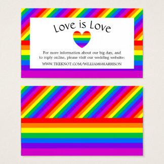 Cartão De Visitas O amor do coração do arco-íris é Web site do