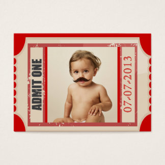 Cartão De Visitas O aniversário do bilhete do carnaval convida o