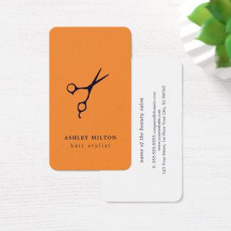 Cartão De Visitas O azul alaranjado mínimo moderno Scissors o