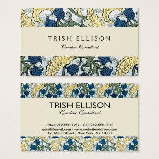 Cartão De Visitas O azul floral floresce o lírio do vale
