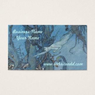 Cartão De Visitas O azul profundo sonha o negócio/cartão de visita